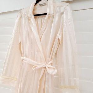 Christian Dior Lingerie Long Robe Pink Size Medium
